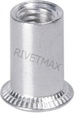 Заклепка резьбовая с потайным бортом М8 L17,0 гладкая алюминиевая