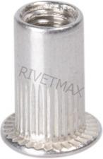 Заклепка резьбовая с плоским бортом М8 L18,0 алюминиевая