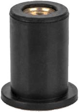 Заклепка резьбовая неопреновая с плоским бортом М6 L20,3