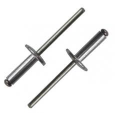 Заклепка вытяжная ST/ST 4,8X10X16 с широким бортом